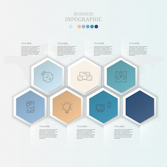 Infographics and icons for present business concept.