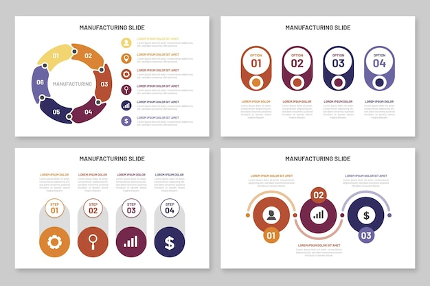 Infographics manufacturing template
