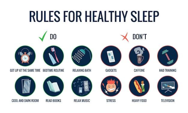 Инфографика советов по здоровому сну