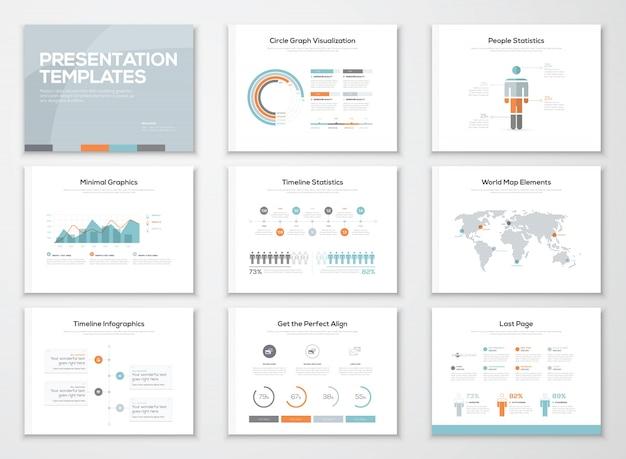 インフォグラフィックスプレゼンテーションテンプレートとビジネスパンフレット
