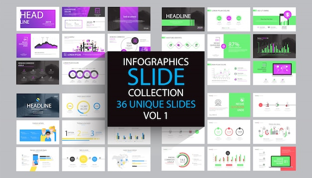 Infographics slide template design