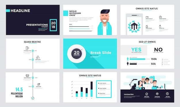 Infographics slide template