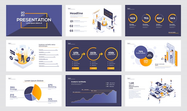Infographics slide template