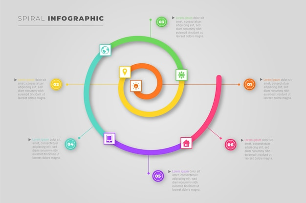 Infographics spiral concept