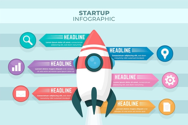 Infographics startup concept