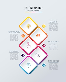 Infographics. steps or processes.  options number workflow template design. 5 steps.