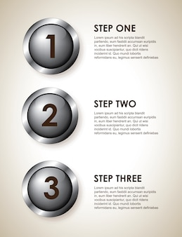 Infographics steps