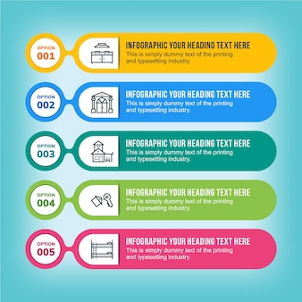 Infographics tags design template