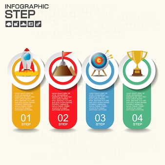 Infographics template for business, education