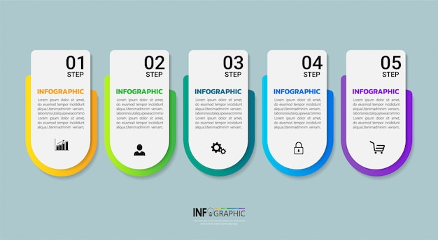 Infographics template design