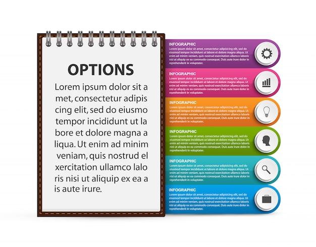 Инфографика шаблон для бизнес-презентаций или информационный баннер.