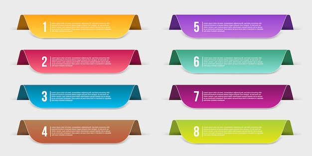 Infographics template step banner