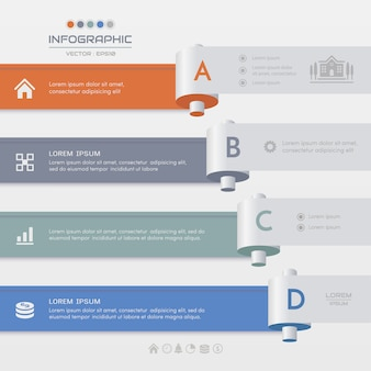 Infographics template with icons