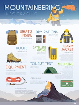 Infographics on the theme of climbing