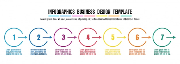 Infographics timeline colorful design template for business