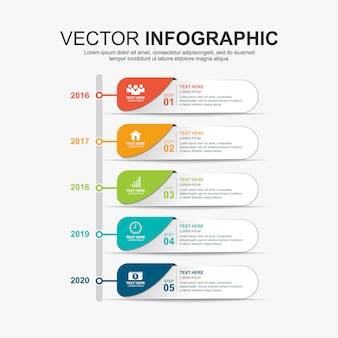 Infographics timeline elements design template