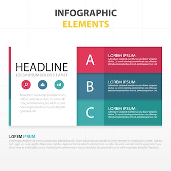 Infographics with 3 colors