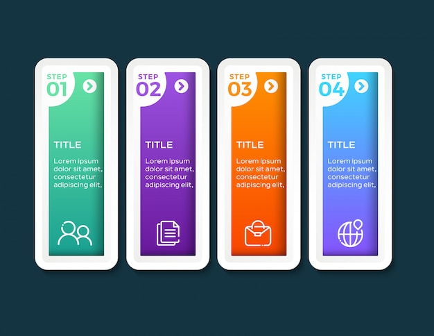 Infographics with 4 steps options