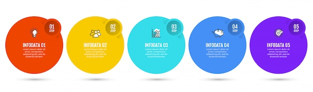 Infographics with 5 steps.