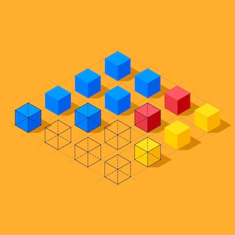 Infographics with cubes