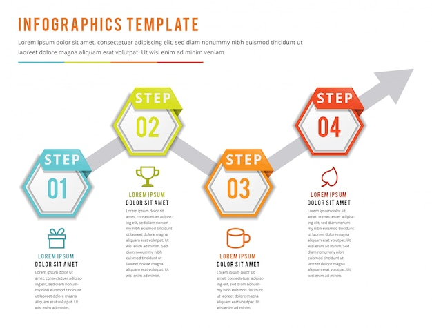 Infographics with four steps
