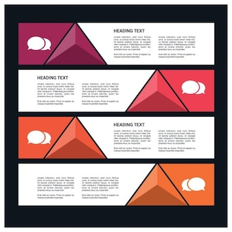 Infographics with geometric triangles