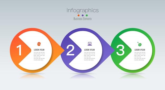 Инфографика с шагами и опциями