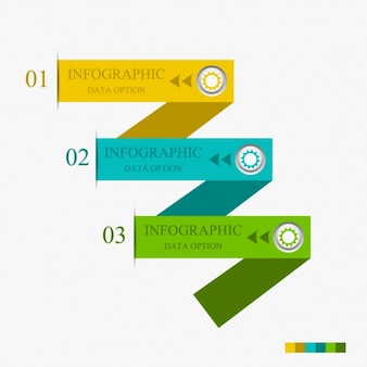 Infographics with three modern options