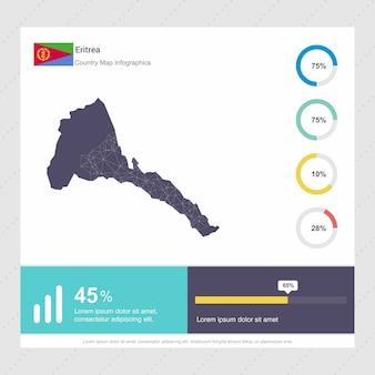 エリトリアの地図とフラグinfographicsのテンプレート