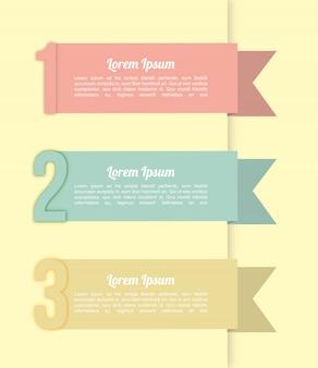 クリームの背景上の数字のinfographics
