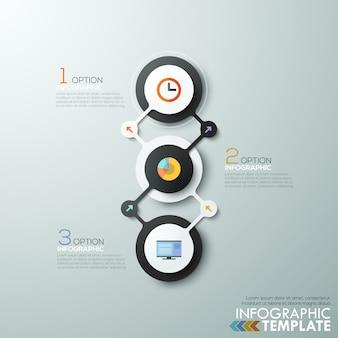 最新のinfographicsプロセステンプレートとサークル