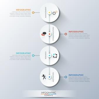 最新のinfographicsプロセステンプレート