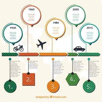 Infography about means of transport