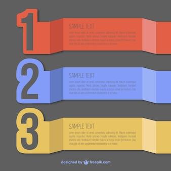Infography番号がデザインをラベル