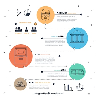 Infography of economy in modern style