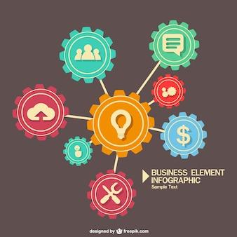 Творческий бизнес вектор infography