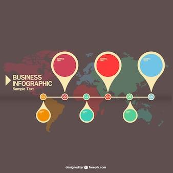 ピンマップベクトルinfography