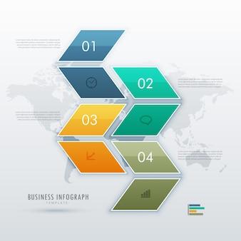 プレゼンテーションのためのインフォグラフィックテンプレートデザイン