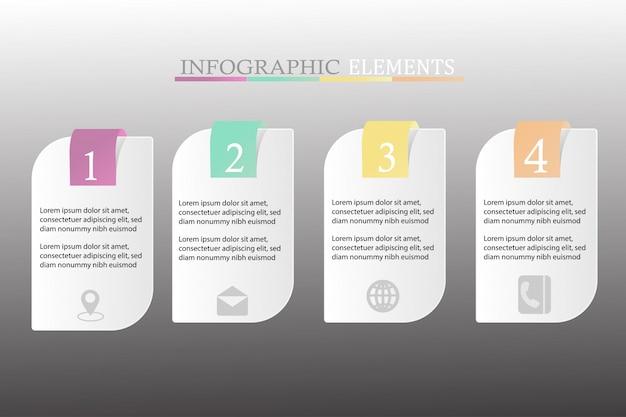 Inforgraphic с четырьмя шагами