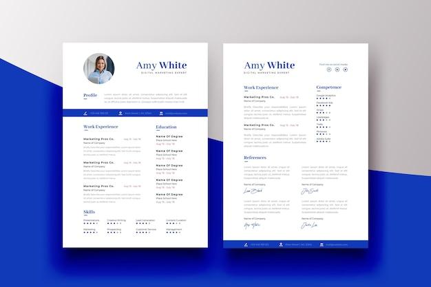 情報と写真の履歴書テンプレート