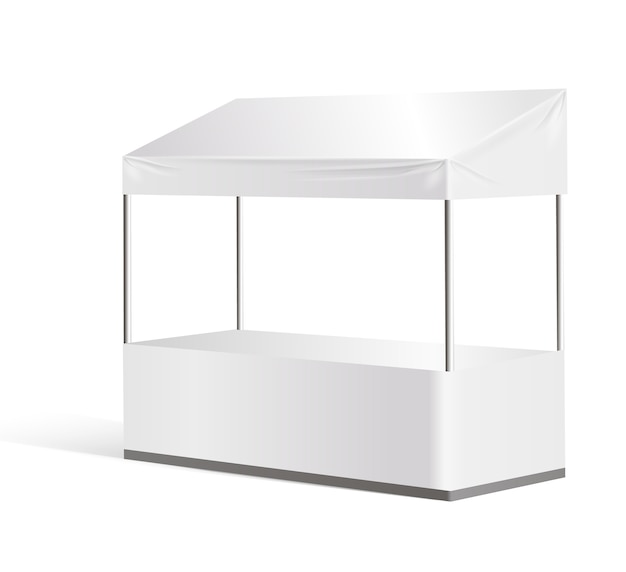 Information booth exhibition stand blank