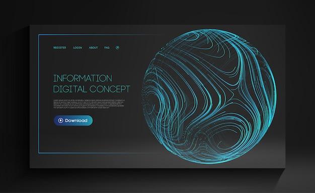 情報デジタルコンセプト未来技術ベクトルイラスト人工知能技術