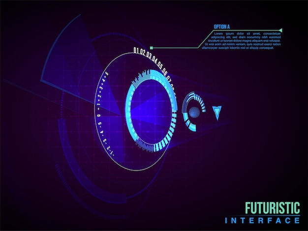 정보 디스플레이 인포 그래픽 배너 과학