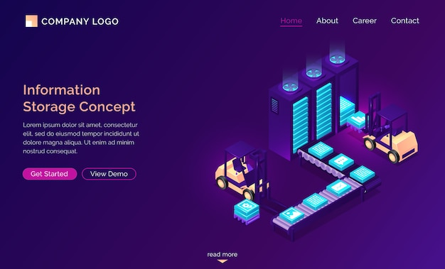 Information storage isometric concept, technology