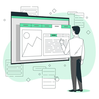 Illustrazione del concetto di scheda informazioni