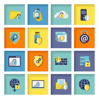 情報技術セキュリティのアイコンを設定