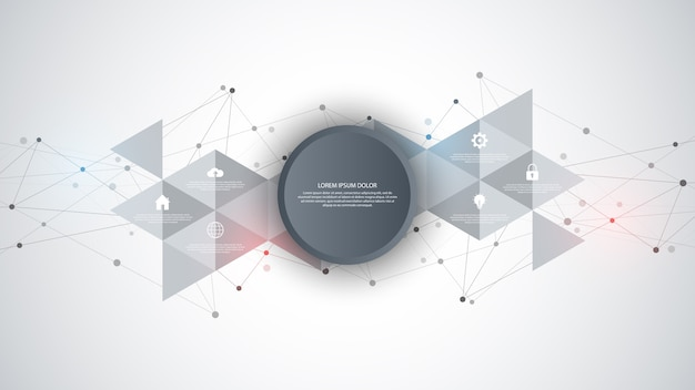Information technology with infographic elements