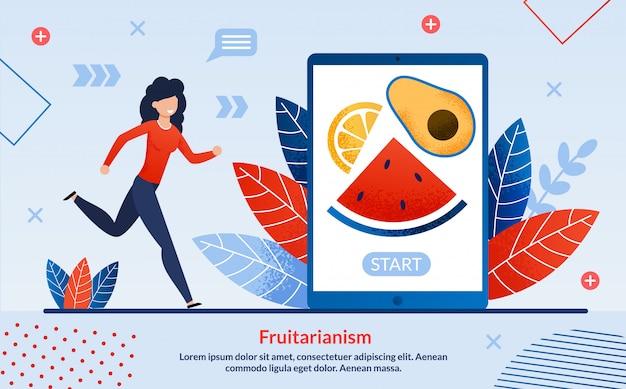 Informational flyer fruitarianism proper nutrition