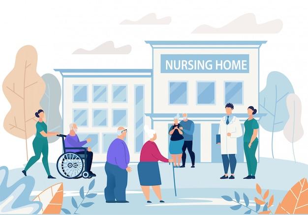 Informational flyer nursing home building flat.