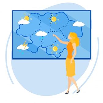 Информационный флаер прогноз погоды мульт.